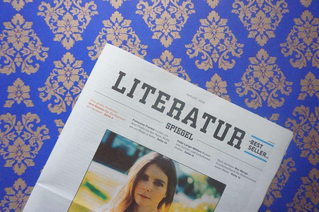 Der Literatur-SPIEGEL im August 2016 – Meine Highlights