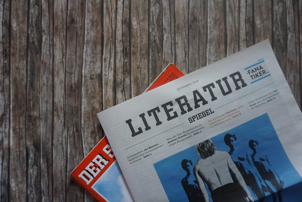 Der Literatur-SPIEGEL/Spiegel im September 2016 – Meine Highlights