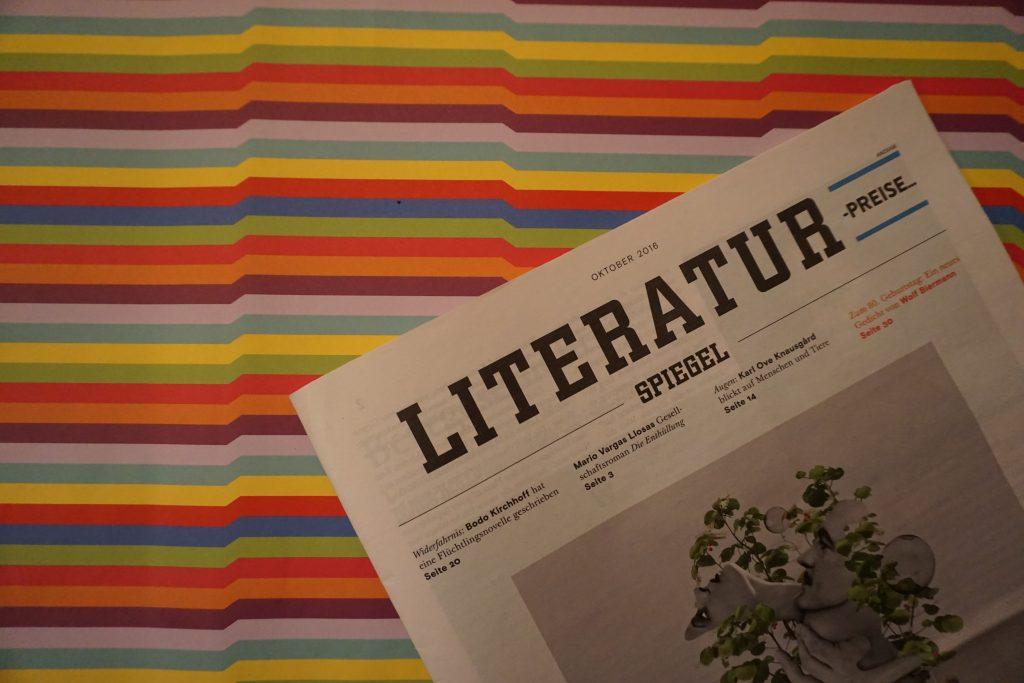 Der Literatur-SPIEGEL im Oktober 2016 – Meine Highlights